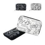 ミッキーマウス デッサン柄 コインケース 小銭入れ D1036 ディズニー 財布 白 黒 日本製