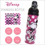 ショッピングミニー ステンレスボトル Disney ミニーマウス レトロ 水玉 ステンレス 水筒 500ml 直飲み マグボトル 保冷専用 すいとう 保冷 マイボトル ステンレス軽量