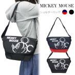 ディズニー ミッキーマウス ショルダーバッグ 軽量 ミッキー Disney Mickey Mouse メッセンジャーバッグ ワンショルダー ブラック トリコロール ユニセックス