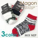 ショッピング雑誌掲載 靴下 ソックス メンズ 秋冬 ウール もこもこ 雑誌掲載ブランド Magon マゴン