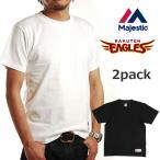 楽天イーグルス MAJESTIC マジェスティック メンズ 半袖 Tシャツ 2枚組