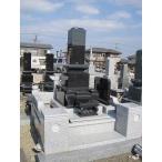 墓石 黒御影石(インド産) 石塔1尺30cm 外柵180cm角  高さ2.0m