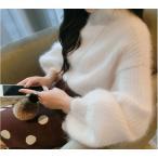 ショッピングタートルネック タートルネックニットトップス パフスリーブ バルーンスリーブ 韓国ファッション