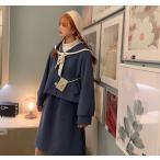 ロリータ 秋冬 セーラーロリータ アウター トップスのみ販売 セーラー服 コート 制服ロリータ 制服 かわいい