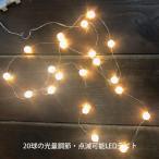 クリスマスリース用 LEDライトオーナメント 「ミニボール」