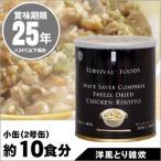 非常食 保存食 サバイバルフーズ 洋風とり雑炊 小缶(2&ハーフ)=約380g 約10食分【賞味期限2041年7月】