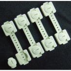 OA機器用耐震固定バンド リンクストッパー4P(地震対策グッズ 家具転倒防止器具 防災用品)