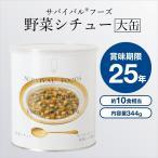 サバイバルフーズ 野菜シチュー 大缶440g(防災グッズ 非常食 保存食 賞味期限25年保存)