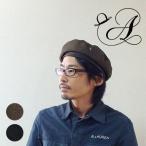 貝雷帽 - ベレー帽 メンズ ミリタリー ブラック カーキ サイズ調整可能 日本製