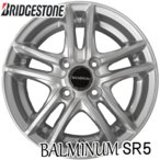 BALMINUM SR5 バルミナ 14X4.5J 4穴 PCD 100 インセット+45 ブリヂストン アルミホイール 4枚単位で送料無料 単品