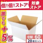 ダンボール 段ボール 白 60サイズ (24×19×14cm) 20枚セット 引っ越し ダンボール箱 60 展示 アート 毎日出荷