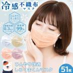 冷感 不織布  カラーマスク 50枚+1枚 やわらかマスク