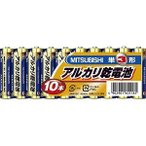 三菱単3アルカリ乾電池10本パックLR6N/10S