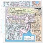 能率 バインデックス システム手帳 リフィル 東京・大阪周辺鉄道路線図 A5516