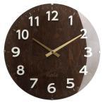 ショッピング壁掛け 壁掛け時計 アナログ 丸型 時計 掛け時計 ウォールクロック クロック 木目調 生活雑貨 モダン おしゃれ ダークブラウン
