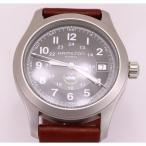 訳あり 新品未使用 HAMILTON ハミルトン KHAKI カーキ H68491 腕時計 メンズ 革バンド 6時側傷あり