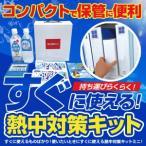 軽量・コンパクトケースに入ったセット (BR-560 熱中対策キットミニ(MINI)) 熱中症対策グッズ、熱中症対策応急キット
