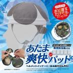 頭ひんやりパット ブレイン BR-562 あたま爽快パット(保冷剤付き) 水に浸すだけでも涼感ゲット ヘルメット冷却パット 帽子冷却