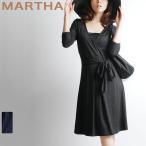 MARTHA ワンピース/マーサ   カシュクールジャージーワンピース/M・Lサイズ有 レディース ワンピース/6108