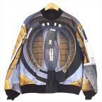 アンダーカバー UNDERCOVER UCV4202-1 2001年宇宙の旅 リバーシブル ボンバー ジャケット ブルー系 3 【新古品】【未使用】【中古】