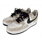 NIKE ナイキ 845053 104 AIR FORCE1 LOW RETRO COCOA SNAKE スニーカー  TRUE WHITE / BLACK-COCOA 26cm 【美品】【中古】