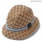 グッチ ハット/帽子 GUCCI  フェドラ ハット GGブラウン/ベージュ ブルー ライン入り 200036 KH110 8884