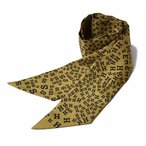 エルメス ツイリー スカーフ HERMES シルクツイル ロゴモチーフ ゴールド