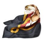 エルメス スカーフ HERMES スカーフ カレ90 シルクツイル ウエスタン/カウボーイ ブラック