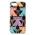 ミュウミュウ iPhone8ケース/iPhone7ケース miumiu 5ZH035 MADRAS CAT/マドラス 猫/ネコ NERO/ブラックマルチ