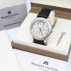 f2669 未使用 モーリス・ラクロア マスターピース レギュレーター MP6148 自動巻き メンズ 腕時計 革ベルト Masterpiece MP6148 クロコ