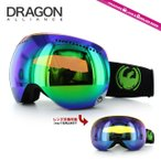 ドラゴン ゴーグル DRAGON APX Jet/Green Ionized/Yellow Blue Ionized GOGGLE スキー スノーボード