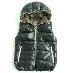 良品◆DUVETICA デュベティカ ZIPUP ダウンベスト ブラック 44 ブルガリア製 メンズ 防寒性◎
