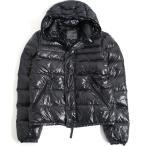 極美品□DUVETICA デュベティカ フード付き WZIPUP ダウンジャケット ブラック 48 シンプル メンズオススメ◎