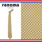 レノマ ネクタイ レギュラータイ 小紋 シルク renoma