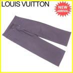 ルイ ヴィトン Louis Vuitton パンツ ワイド メンズ ♯42サイズ シャドウストライプ 中古 人気 セール A1468