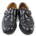 バーバリー BURBERRY シューズ ローファー 靴 メンズ ♯24 ラウンドトゥ モンクストラップ 中古 激安 セール A798