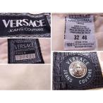 ヴェルサーチ Versace パンツ メドゥーサボタン ジーンズクチュール クリーム系 メンズ 中古