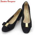 サルヴァトーレ フェラガモ パンプス シューズ 靴 レディース #6 ヴァラ金具 Salvatore Ferragamo 中古