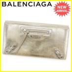 バレンシアガ BALENCIAGA 長財布 Wホック レディース 247058 ミルキーウェイ 中古 良品 セール J12578