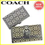 ■管理番号:J15980  【商品説明】 コーチ【COACH】の  長財布です。  ◆ランク 【6】...