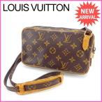 ルイヴィトン Louis Vuitton ショルダーバッグ 斜め掛け ポシェットマルリーバンドリエール M51828 モノグラム (参考定価85050円) 中古 激安 セール J9625