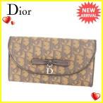 ディオール Dior 長財布 ファスナー付き長財布 レディース リボンモチーフ付き トロッター 中古 人気 セール K417