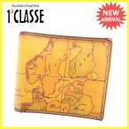 プリマクラッセ PRIMA CLASSE 二つ折り財布 メンズ可 地図柄 中古 人気 セール K437