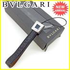 ショッピングブルガリ ストラップ ブルガリ BVLGARI 携帯ストラップ チャーム メンズ可 スクエアプレート 中古 美品 セール L1402