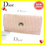 クリスチャン・ディオール Christian Dior 長財布 レディース トロッター 中古 N270