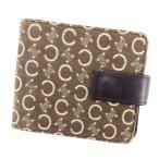 セリーヌ CELINE 二つ折り 財布 レディース メンズ 可 Cブラゾン 中古 人気 セール P556