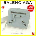 バレンシアガ BALENCIAGA 二つ折り財布 ラウンドファスナー レディース 310699 クラシックマネー 中古 激安 セール Q187