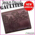 (激安・即納)ゴルチェ/Gaultier/二つ折り財布/ニューローズ/パープル/レザー 中古 R151