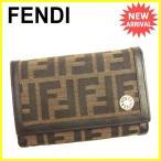 フェンディ FENDI 二つ折り財布 L字ファスナー 財布 レディース メンズ 可 ズッカ [中古] 人気 セール T1374