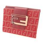 フェンディ Wホック財布 財布 二つ折り財布 FFプレート 8M0035 ズッキーノ FENDI 中古